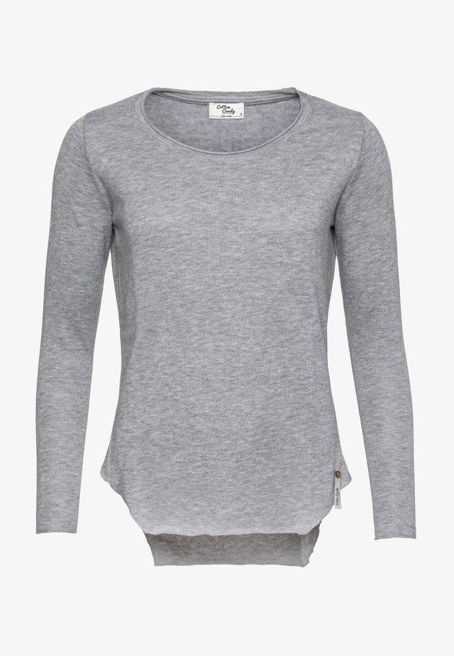 AVA - Long sleeved top - grey mel.