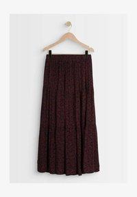 Maison 123 - Pleated skirt - bordeaux/dark blue - 2