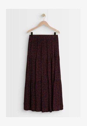 Pleated skirt - bordeaux/dark blue