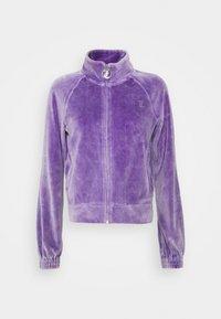 TANYA ACID TRACK - Sweater met rits - pastel lilac
