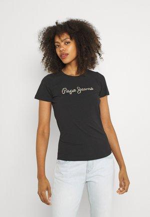 DORITA - Print T-shirt - black