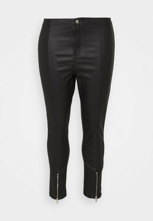 SPLIT VICE WITH ZIPS - Pantalones - black