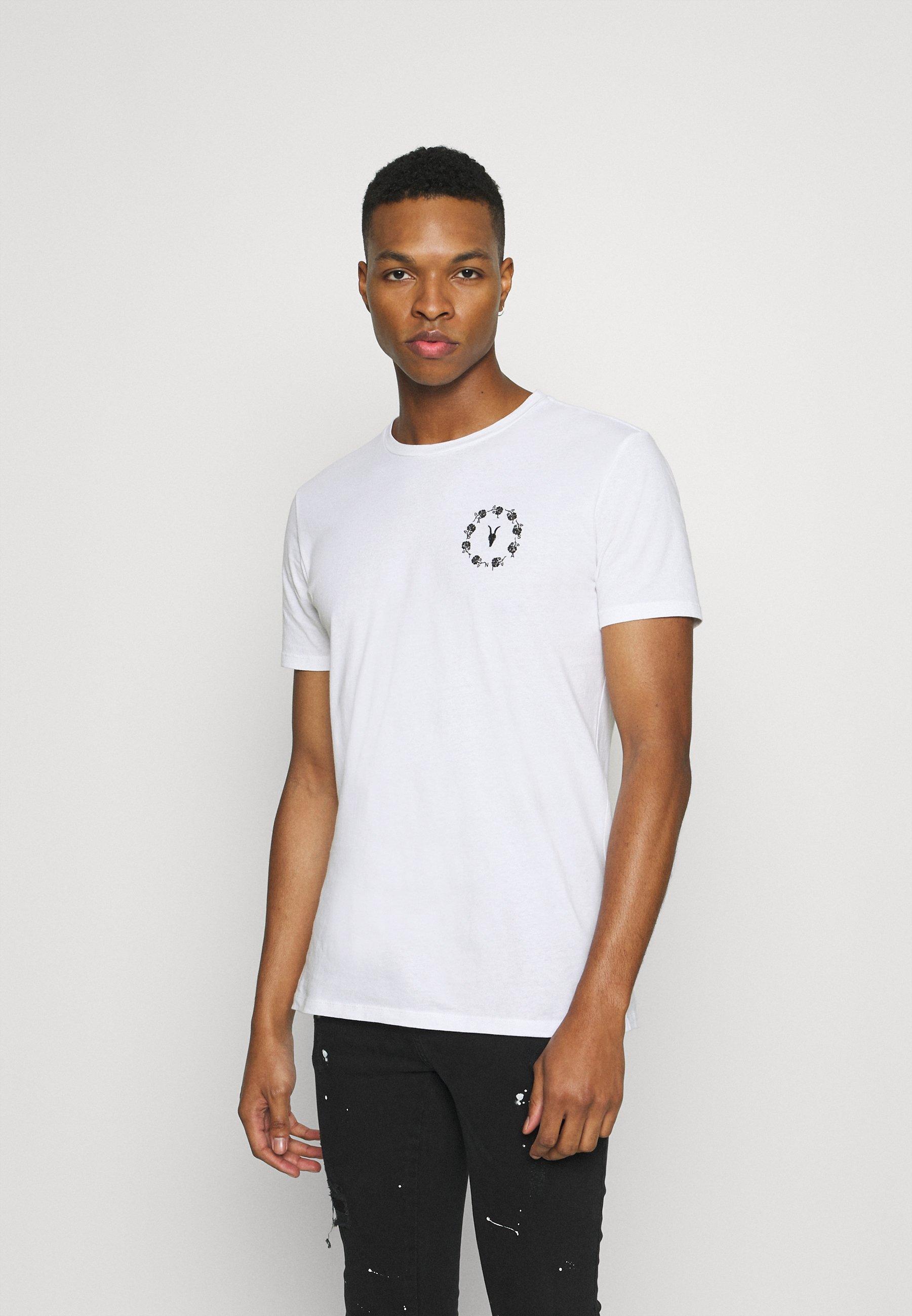 Men BUNCH BRACE CREW - Print T-shirt
