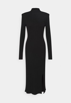 SOPHIA DRESS - Pletené šaty - black