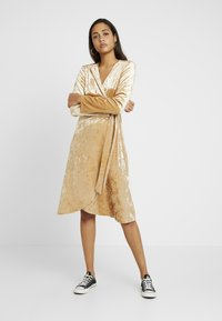 Monki - TUVA DRESS - Day dress - beige - 2