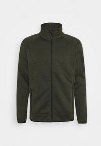 CMP - MAN JACKET - Fleecová bunda - oil green/burgundy - 4