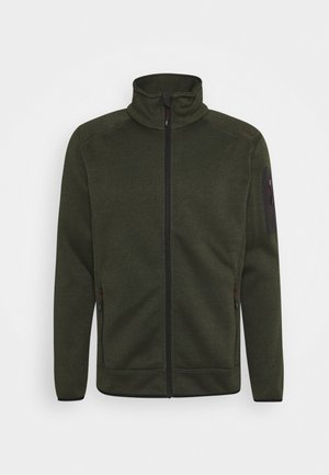 Fleece jacket - oil green/burgundy