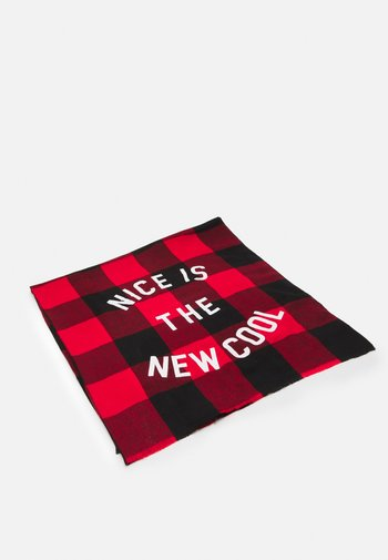CHECKS  NICE IS THE NEW COOL - Foulard - red
