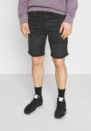 CLEAN CUT OFF - Denim shorts - black