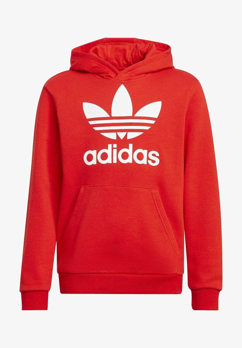 adidas Originals - TREFOIL HOODIE UNISEX - Huppari - red/white