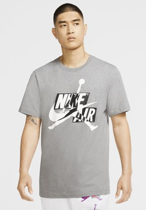 CLASSICS CREW - T-shirt con stampa - carbon heather/white/black