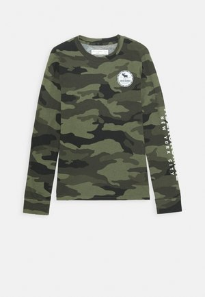 VINTAGE PRINT LOGO - Long sleeved top - khaki