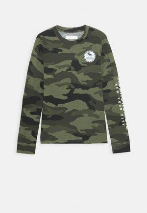 VINTAGE PRINT LOGO - Långärmad tröja - khaki