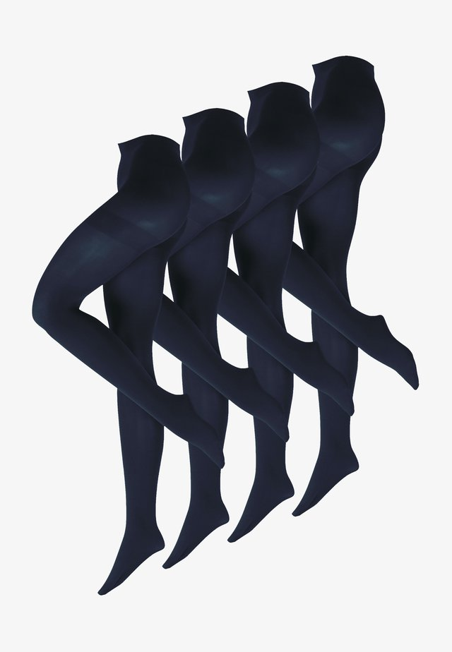 4-PACK - Strømpebukser - dunkelblau