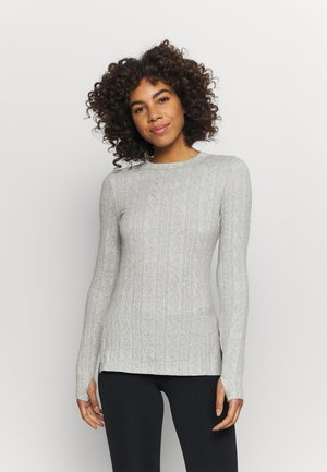 CHILLY NIGHTS LONG SLEEVE - Jersey de punto - heather grey