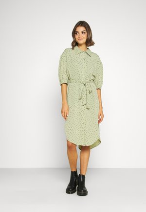 VALMA DRESS - Skjortekjole - green dusty light