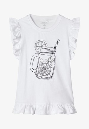 NAME IT T-SHIRT MAGISCHES FARBWECHSEL - T-shirt print - bright white
