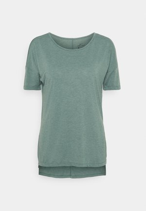 YOGA LAYER - T-shirt basic - hasta heather/light pumice/dark teal green
