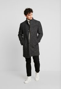 Marc O'Polo - COAT LONG SLEEVE - Manteau court - dark grey melange - 1