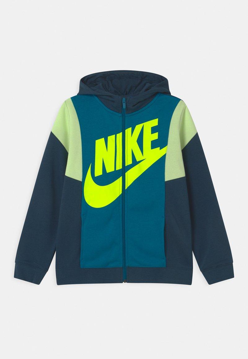 Nike Sportswear - CORE AMPLIFY - Sweater met rits - deep ocean/green abyss/volt