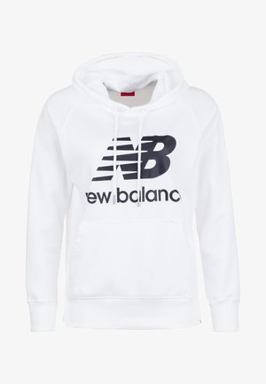 REGULAR FIT - Bluza z kapturem - white/black