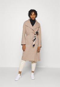 Vila - VIJUICE ZEBRA COAT - Classic coat - natural melange - 0