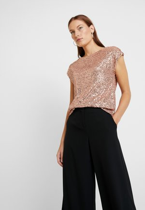 SEQUIN TEE - Blouse - bronze