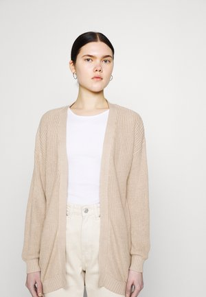 OPEN CARDIGAN - Neuletakki - tan