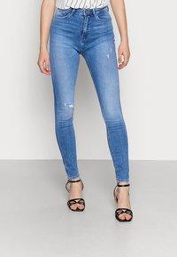 ONLY - ONLPAOLA HIGHWAIST - Jeans Skinny Fit - light blue denim - 0