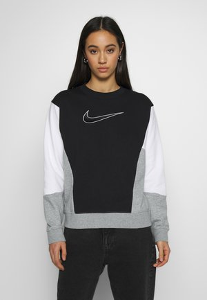 Sweatshirt - black/white/grey heather