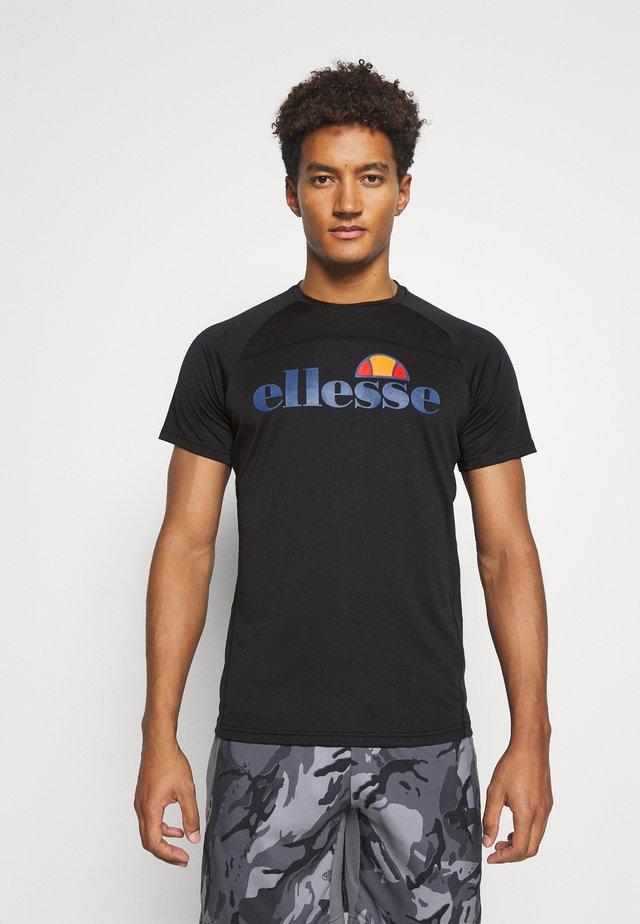 GIZIO - Camiseta estampada - black