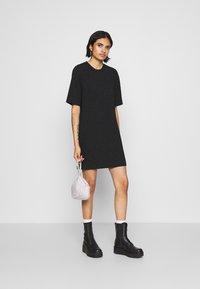 Monki - IZZY DRESS - Jerseykjole - black - 1