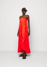 TWINSET - ABITO BUSTINO LUNGO - Maxi dress - corallo - 1