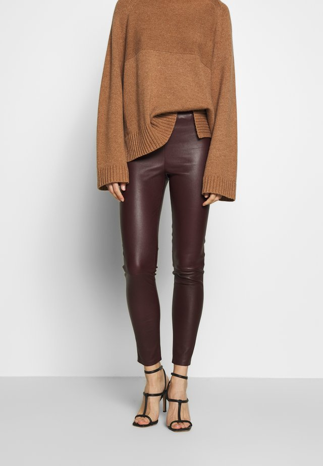 LENA - Leggings - Trousers - burgundy