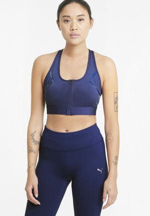 HIGH IMPACT FRONT ZIP  - High support sports bra - elektro blue
