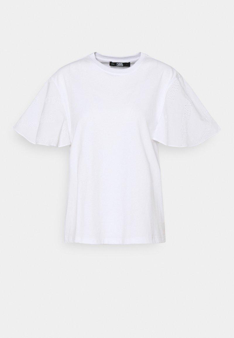 KARL LAGERFELD - LOGO - T-Shirt print - white