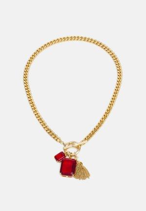 Wisiorek - gold-coloured/red