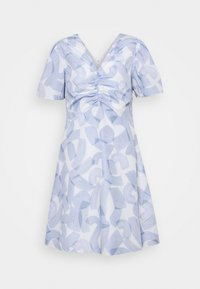 RUCHED FRONT DRESS - Day dress - blue multi