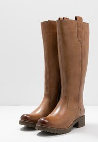 Anna Field - LEATHER WINTER BOOTS - Śniegowce - cognac - 4