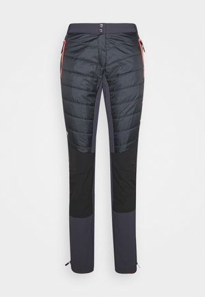WOMAN PANT - Kangashousut - antracite/red fluo