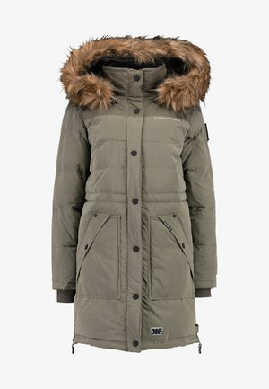 Winter coat - peached dull khaki