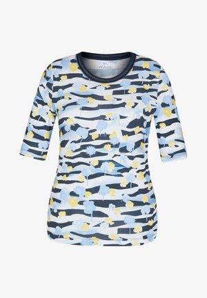 MIT GEBLüMTEM MUSTER UND RUNDHALSAUSSCHNITT - Print T-shirt - dunkelblau