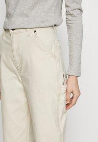 GAP - HIGH RISE CARPENTER - Spodnie materiałowe - french vanilla - 5