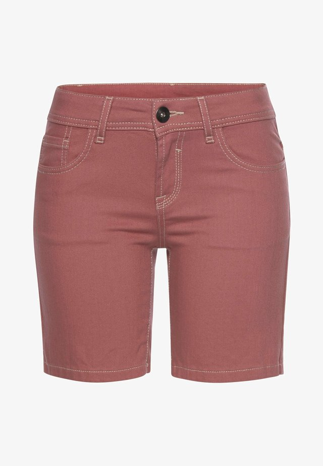 Denim shorts - himbeere