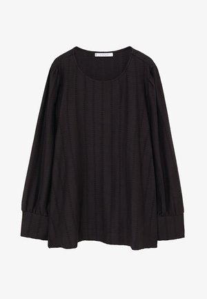 NINA - Long sleeved top - schwarz