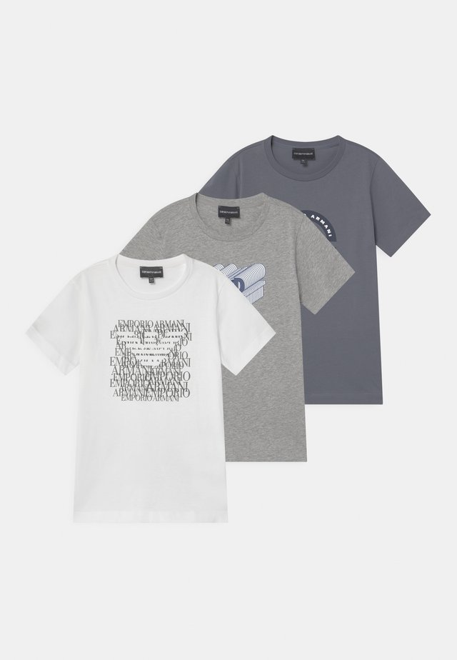 3 PACK - Print T-shirt - grey