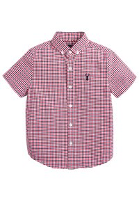 Next - RED/NAVY/WHITE SHORT SLEEVE GINGHAM OXFORD SHIRT (3-16YRS) - Camicia - red - 0