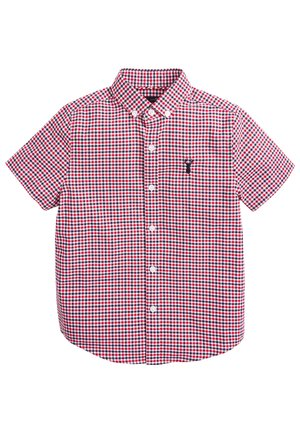 RED/NAVY/WHITE SHORT SLEEVE GINGHAM OXFORD SHIRT (3-16YRS) - Shirt - red