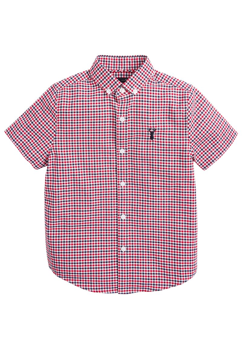 Next - RED/NAVY/WHITE SHORT SLEEVE GINGHAM OXFORD SHIRT (3-16YRS) - Camicia - red