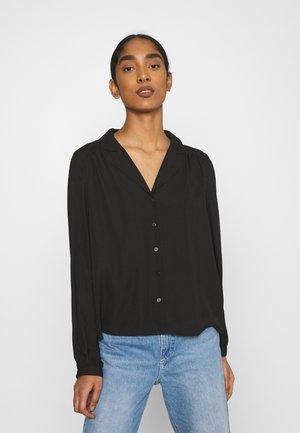 VMPOEL - Button-down blouse - black